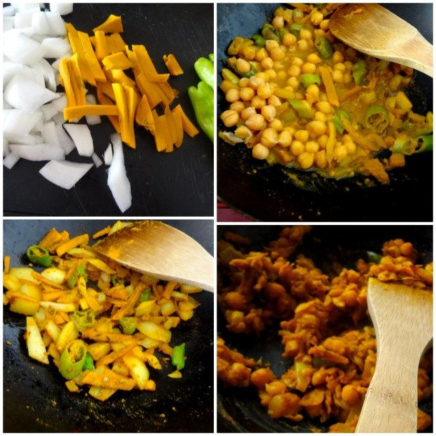 curried chickpeas with kabocha pumpkin