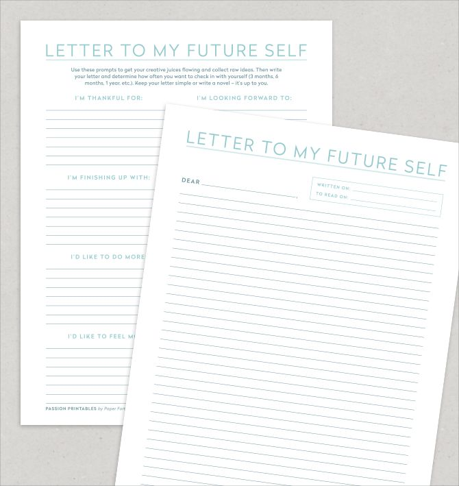 letter to my future self use during ffa