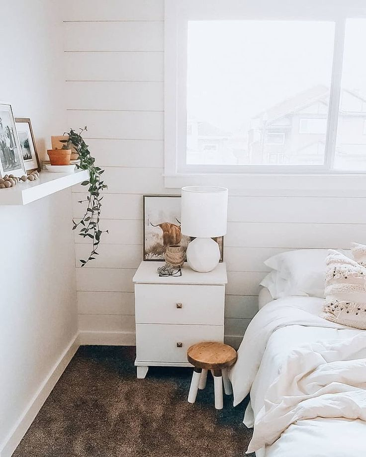 This bedroom view 😍 (📷 submitted by Megan |Cozy Scandinavian Home Decor)