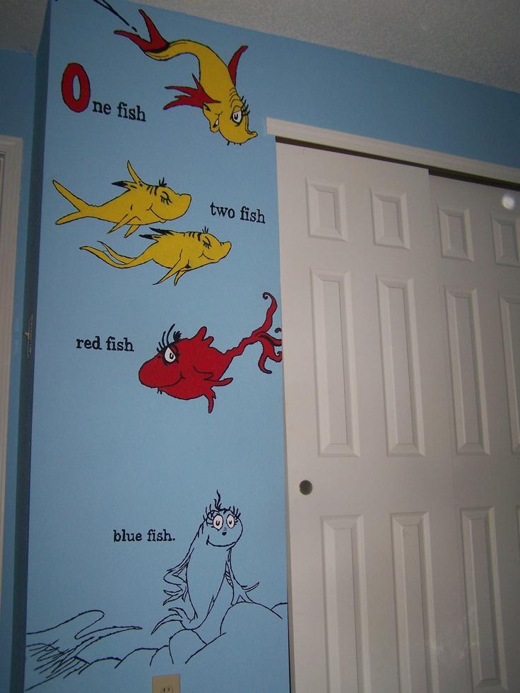 17 best images about dr seuss nursery on pinterest cats for Dr seuss nursery mural