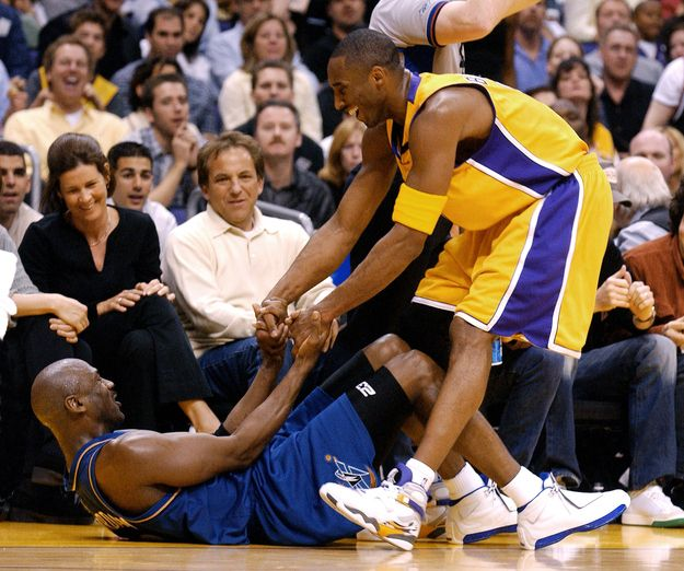 13 one-on-one battles between kobe bryant & michael jordan