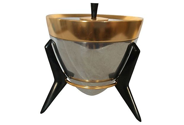 Midcentury  Ice Bucket w/ Stand on OneKingsLane.com