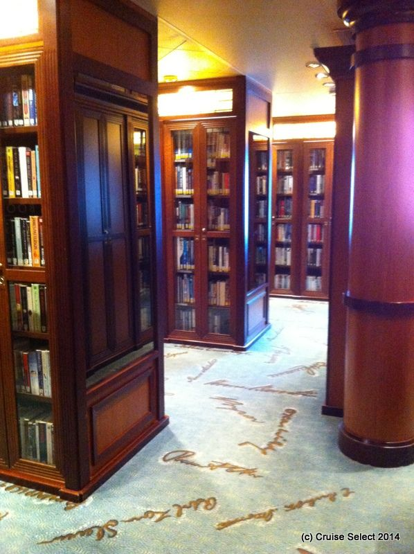 Cunard - The Library - Aboard Queen Victoria