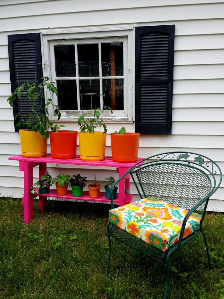 DIY No Sew Patio Seat Cushions