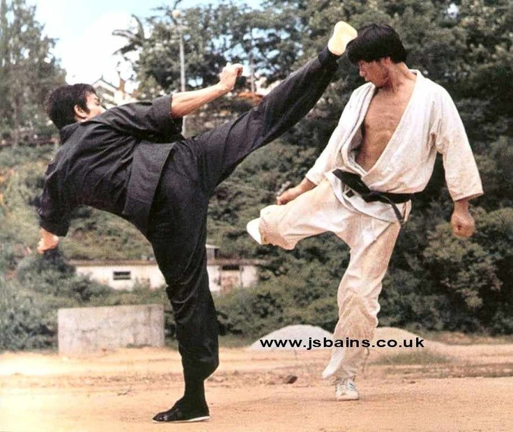 Bruce lee martial arts kick