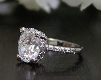 1.50 ct Art Deco Ring-Art Deco Engagement Ring-Oval di Besbelle