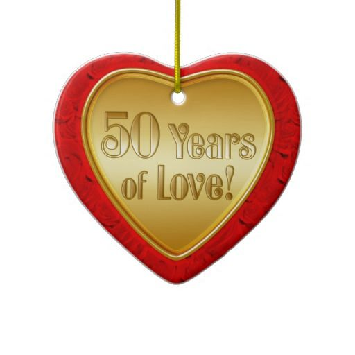 20 best 50Th Wedding Anniversary Ornament images on Pinterest 50th