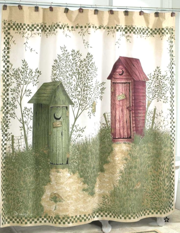 Outhouse Shower Curtainouthouses Shower Curtain Country Decor