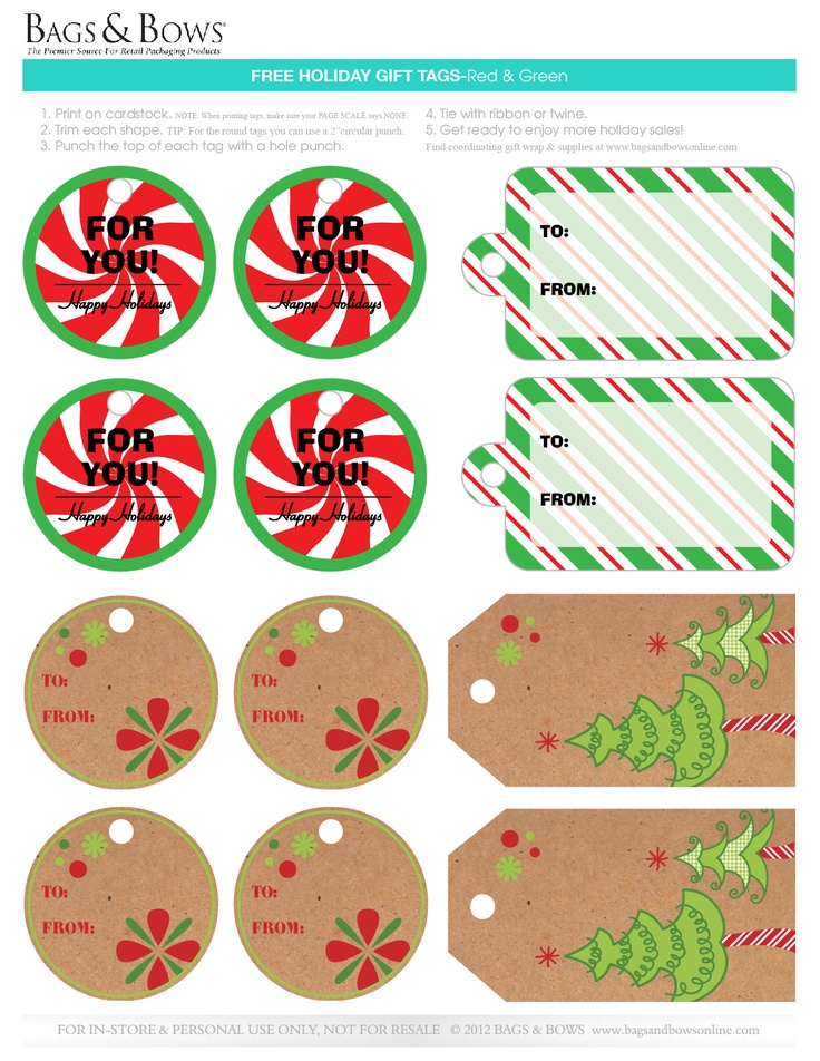 33 best printable free gift tags images on pinterest free free printable gift tags use these gift tags to add a special touch to your negle Image collections