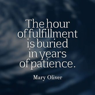 Patience, perseverance and persistence...