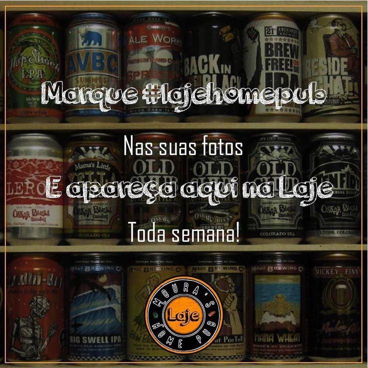 Fala cervejeiros e cervejeiras do Instagram  Não se esqueçam de marcar a nossa hashtag #lajehomepub na foto das suas cervejas e do seu home pub para aparecer aqui na Laje no final da semana!!!  ___ Durante as últimas semanas acabei dando uma pausa por conta da viagem mas já voltamos ao normal!  Então não deixe de postar! Saúde amigos!  #cervejaartesanal #cervejaespecial #bebamenosbebamelhor #vidacomcerveja #planetacervejeiro #cerveja #beerpics #beerphoto #beegram #instabeer #beerporn…