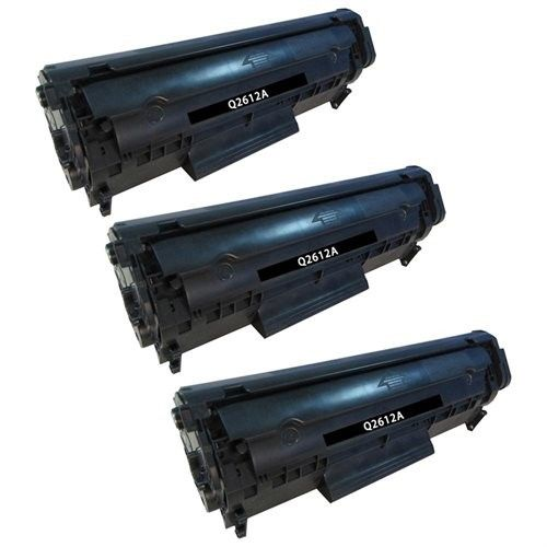 Superb Choice? Compatible Toner Cartridge for HP 12A(Q2612A) use in HP Laserjet M1319 Printer - Pack of 3 Black