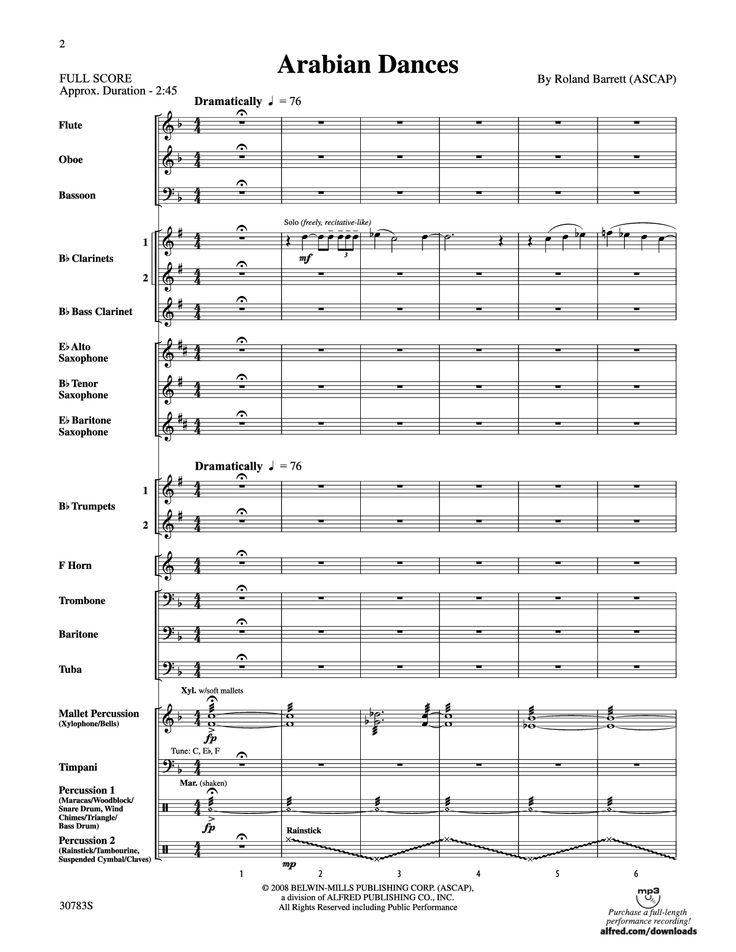 Arabian Dances by Roland Barrett  J.W. Pepper Sheet Music