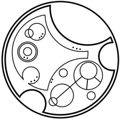 """I am sherlocked"" written in circular Gallifreyan... This is the best :')"
