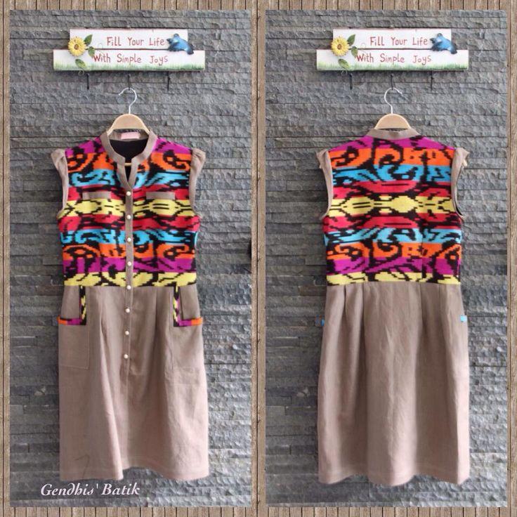 Tenun Buna + Linen + lining tricot, by Gendhis Batik