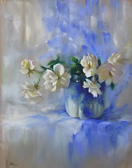 Flowing Blue by Mary Aslin Pastel ~ 19 x 15 | Art-Mary ...