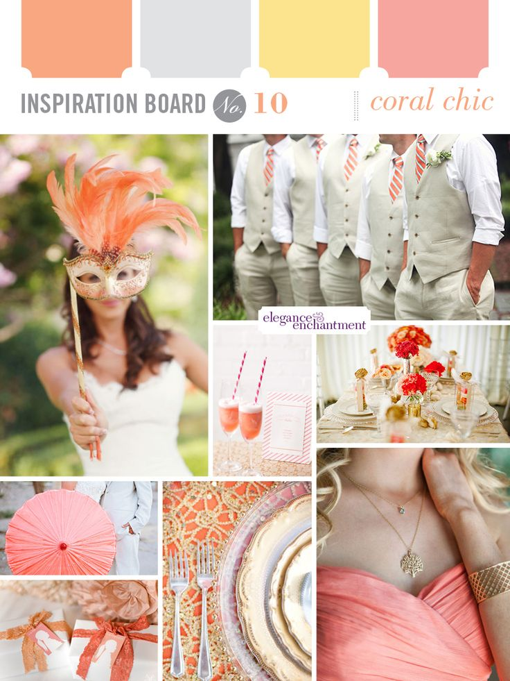 Wedding Inspiration - Gold and Coral