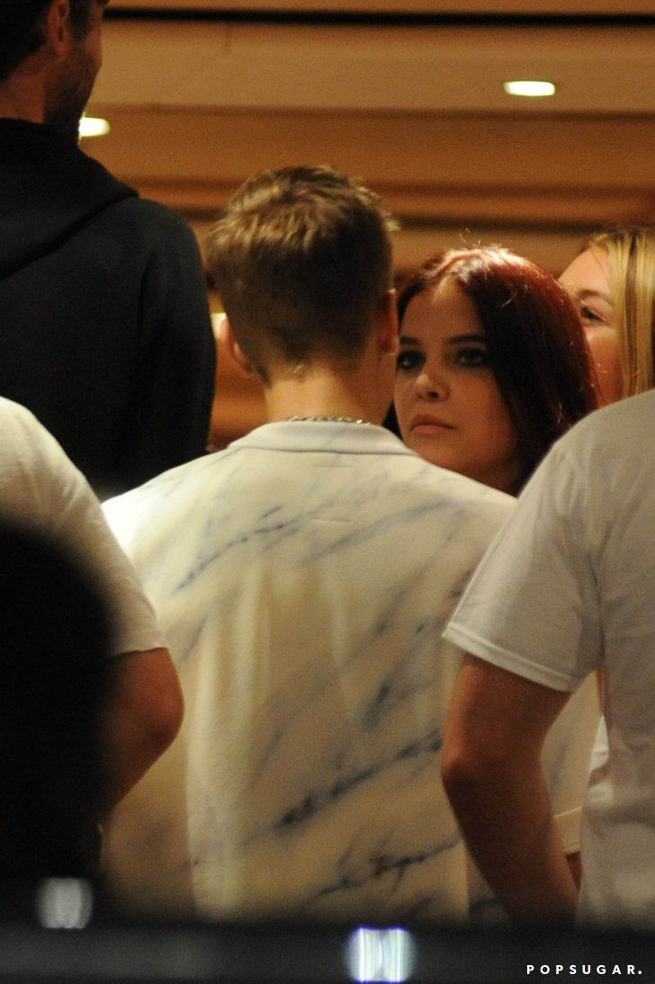 Pin for Later: Justin Bieber Reignites Romance Rumors With a Victoria's Secret Model  Justin and Barbara Palvin talked.