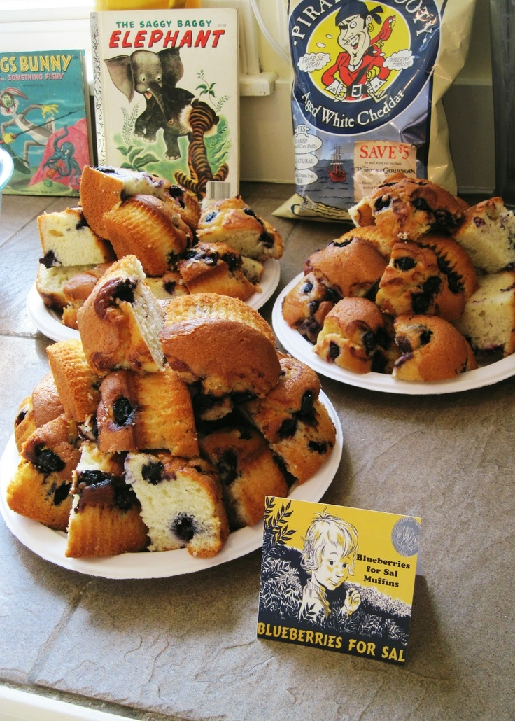 Vintage Storybook Birthday Party Food Sals Blueberry Muffins