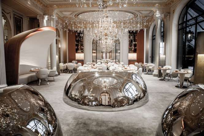 Michelin-starred chef Alain Ducasse reopened his flagship Parisian Plaza Athenee, located on the pre... - Pierre Monetta