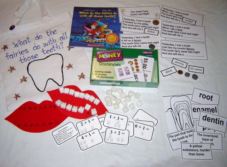Toothfairy literacy bag
