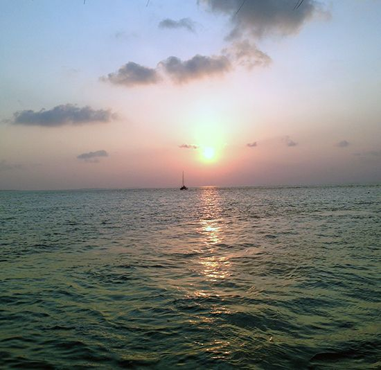 Arriving at sunset was quite special (at Lux Maldives)