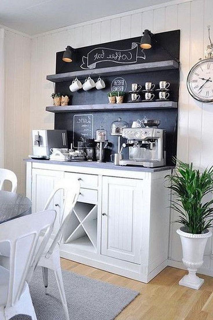 35+ Smart DIY Coffee Bar Design Ideas for Kitchen   Coffee ...