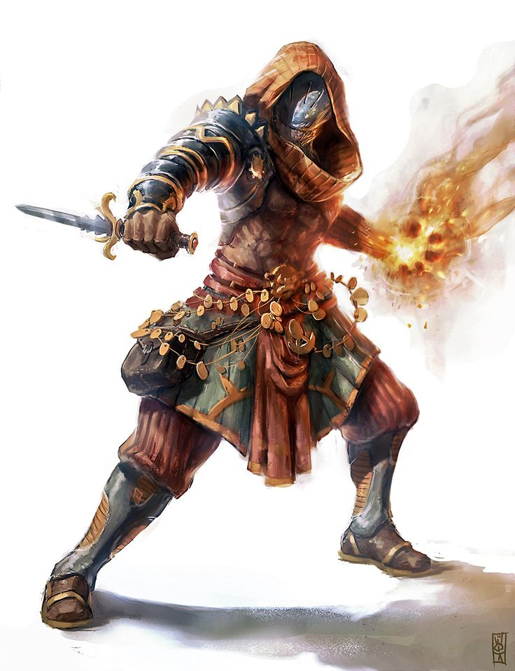 Fire mage by BGK-Bengiskhan dagger armor hood warforged | NOT OUR ART - Please click artwork for source | WRITING INSPIRATION for Dungeons and Dragons DND Pathfinder PFRPG Warhammer 40k Star Wars Shadowrun Call of Cthulhu and other d20 roleplaying fantasy science fiction scifi horror location equipment monster character game design | Create your own RPG Books w/ www.rpgbard.com