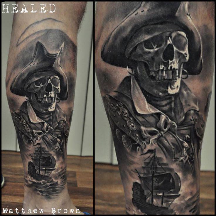Skeleton Pirate http://tattooideas247.com/skeleton-pirate/