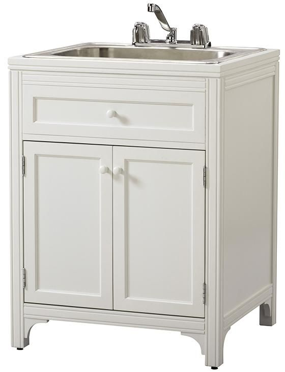 ? Laundry Storage Utility Sink Cabinet Satisfy All of Your Laundry ...