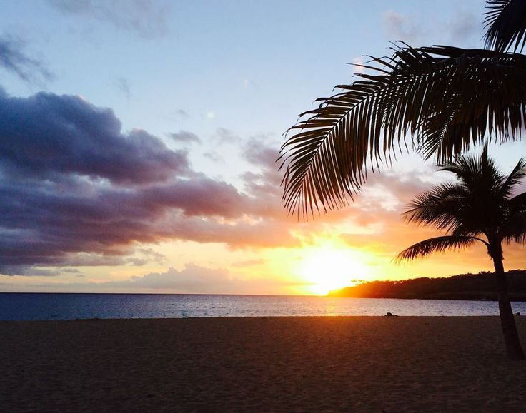 One of our favorite spots to watch the sunset is Hulopo'e Bay, Four Seasons Lanai