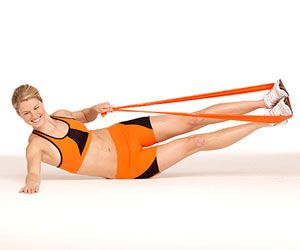 The Side V works your abs and obliques! #fitness