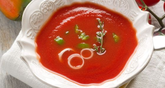 Smooth Style Gazpacho Soup Our gazpacho recipe is a smooth and sophisticated version of this wonderful chilled soup. #Vegetable #Spanish #soup