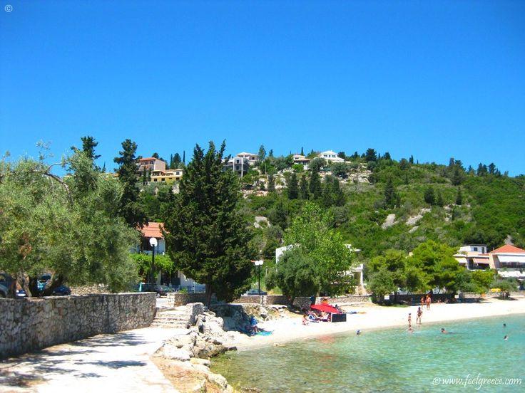 the beach of Nikiana - village on the east coast of the island - Lefkada