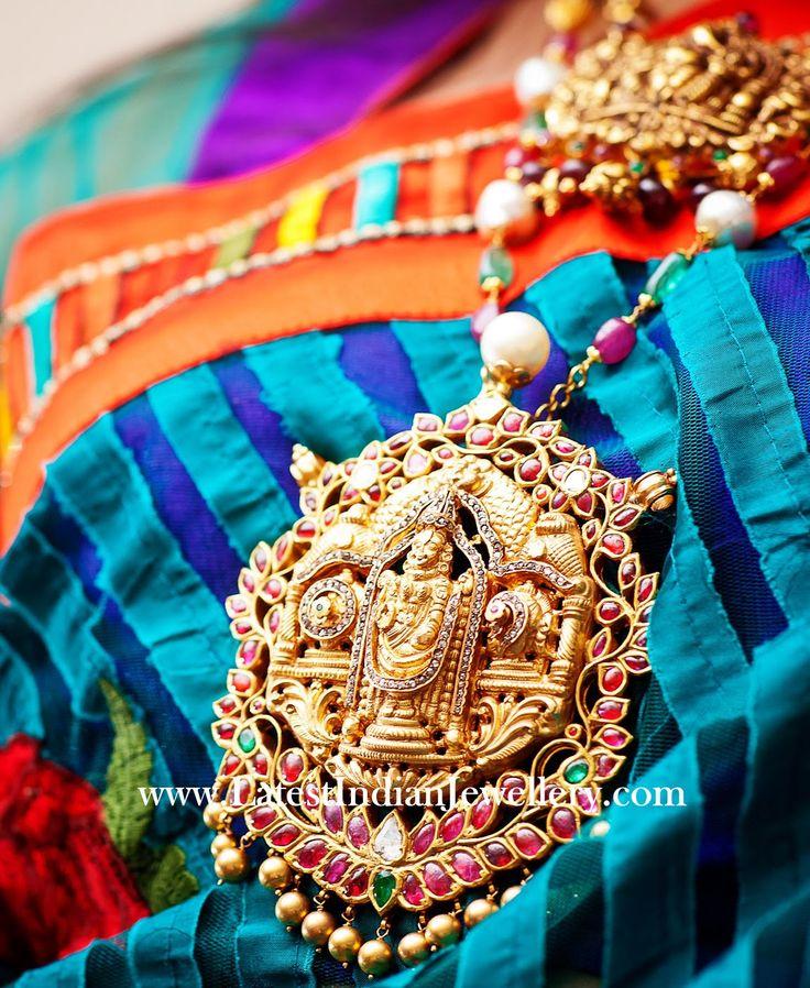 Temple Jewellery Lord Balaji Pendant
