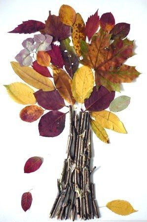 Fall tree - craft idea for kids