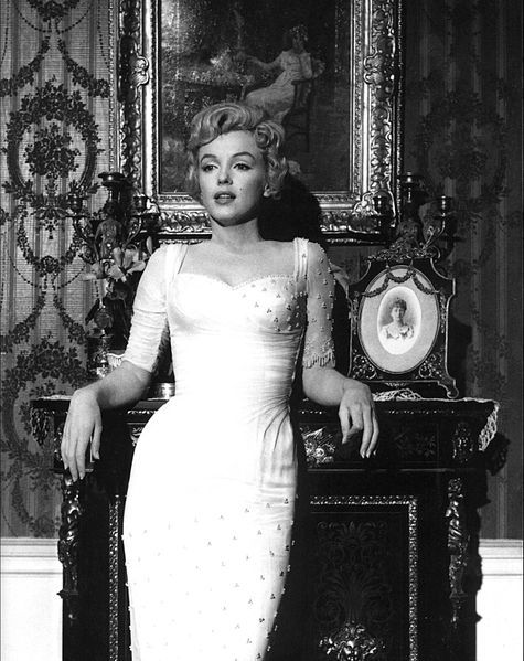 Marilyn Monroe in the 1950's film The Prince and the Showgirl.