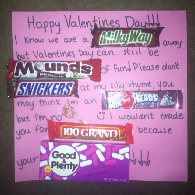 39 best images about Candy bar poems – Valentine Card Poems for Him