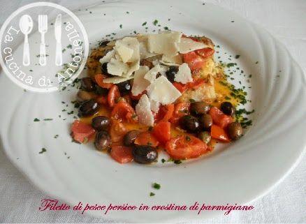 Filetto di persico in crosticina di parmigiano secondi piatti