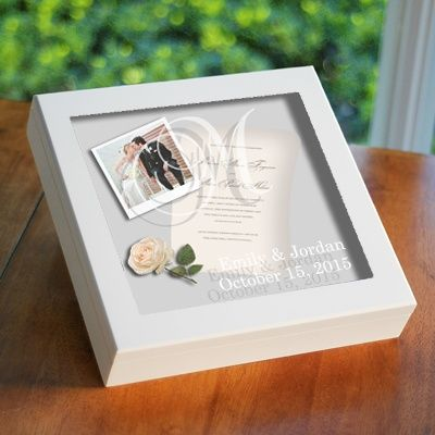Wedding Wishes Keepsake Shadow Box Exclusivelyweddings