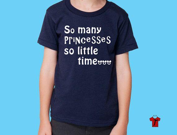 So Many Princesses T Shirt / disney shirt / boys by HappyTeeDay