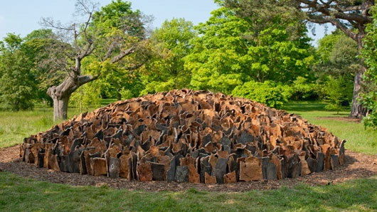 Cork Dome by David Nash, inspired by the cork harvest he visited in Alentejo, Portugal