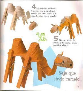 Muitas idéias de animais de sucata! Animais feitos com materiais reciclados! - ESPAÇO EDUCAR