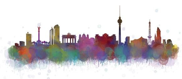 Berlin Cityscape Skyline by HQPhoto Store on @creativemarket