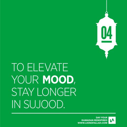 Elevate your mood.
