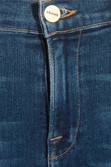 FRAME - Le High Cropped Skinny Jeans - Blue - 24