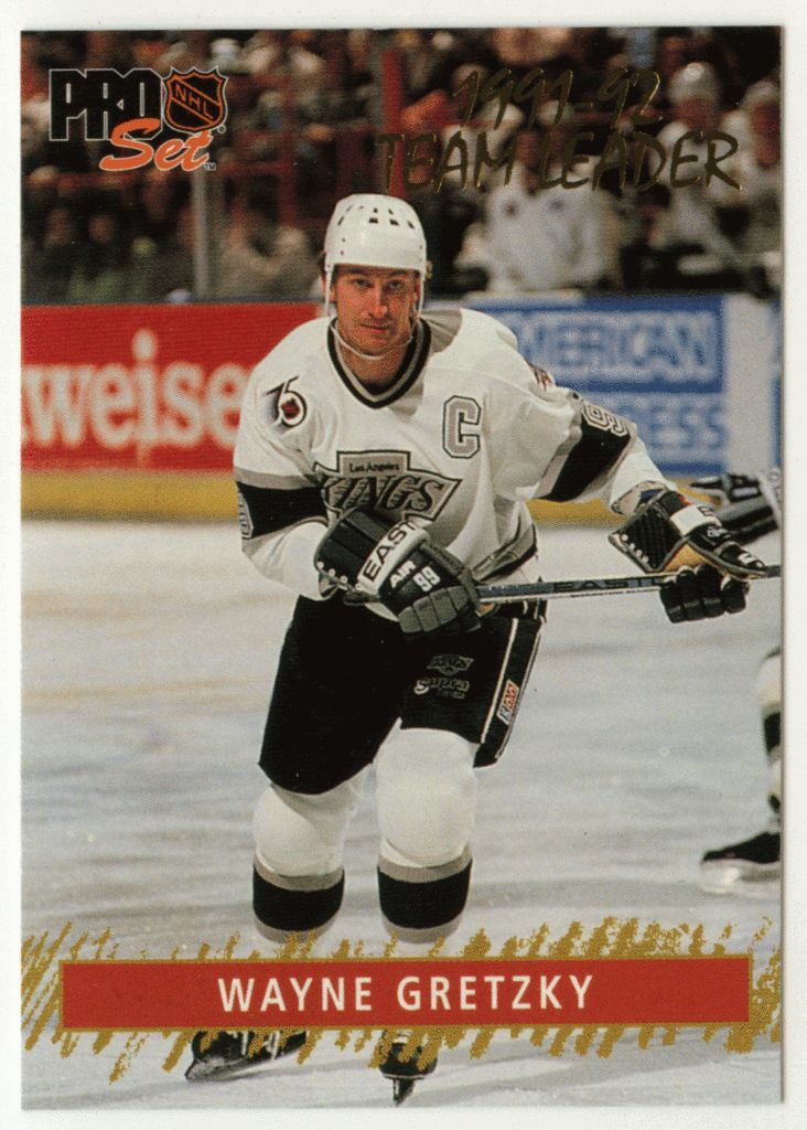 Wayne Gretzky # 6 - 1992-93 NHL Pro Set Hockey Gold Team Leaders