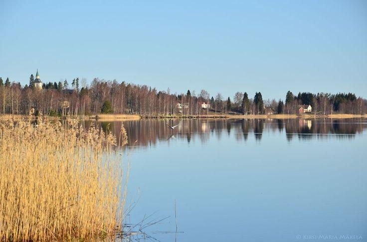 Kiikoisjärven maisemia Murajan mökeiltä murajantila.blogspot.com