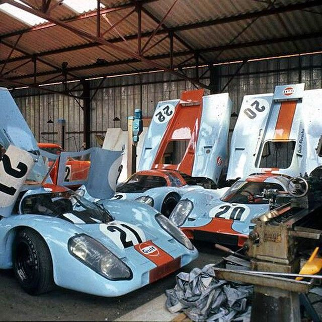 917's Le Mans 1970. These must be the zPorche team cars filmed + #20 driven by Steve McQueen??? Anyone? Anyone? Buehler?