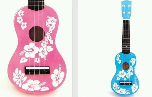 new kids toy ukulele small guitar floral flower design blue pink free wrapping kid ukulele. Black Bedroom Furniture Sets. Home Design Ideas